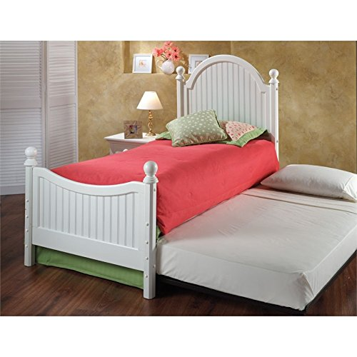 Hillsdale Westfield Twin Poster Bed with Trundle in Off