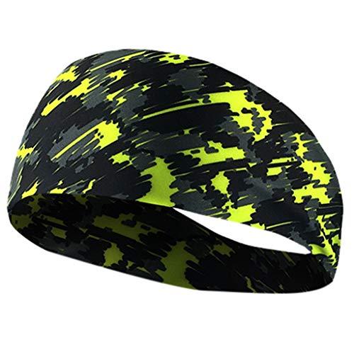 NEARTIMESports Headbands for Men Women, Athletic Head Sweatband, Non-Slip & Moisture Wicking, Elastic Yoga Headband Hairband