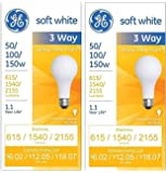 Three-Way Soft White Incandescent Bulb, 50/100/150 Watts GEL41280