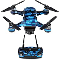 Skin for DJI Spark Mini Drone Combo - Space Blocks| MightySkins Protective, Durable, and Unique Vinyl Decal wrap cover | Easy To Apply, Remove, and Change Styles | Made in the USA