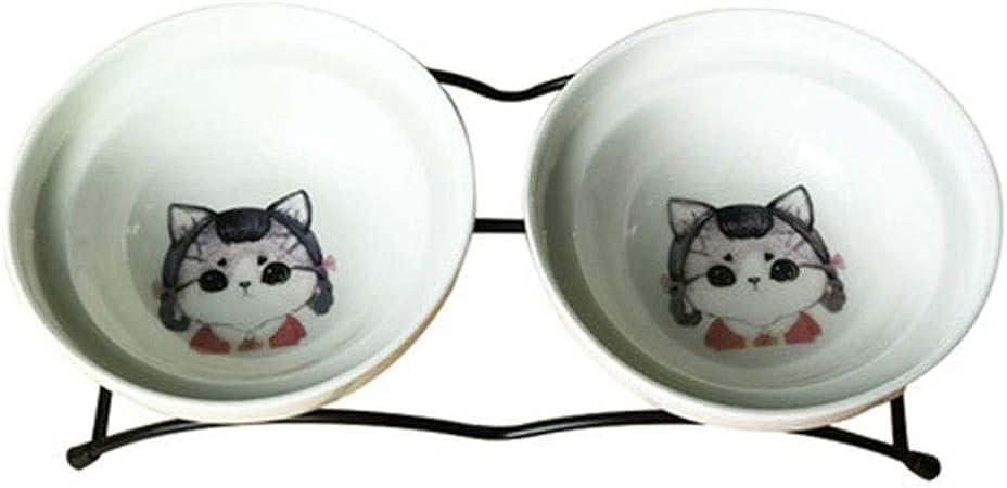 Gwgbxx Tazón de Fuente de Gato para Perro Tazón de Fuente de cerámica para Perros Tazón