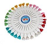 AKORD Heart-Shaped Craft Pins Wheel, Multi-Colour