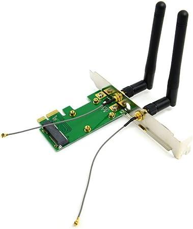 Mini PCI-E a PCI-E Express tarjeta inalámbrica con antena ...