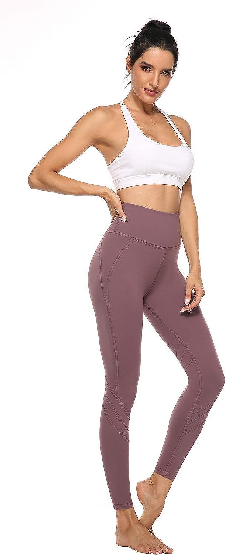 Sport Leggins Yoga Tights High Waist Sporthose Lange Yogahosen JOYSPELS Damen Leggings mit 3D Druck Muster