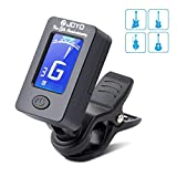Guitar Tuner, BROTOU Clip-On Tuner Digital Electronic Tuner Acoustic with LCD Display for Guitar, Bass, Violin, Ukulele, Banjo
