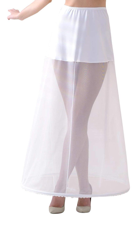 in Vita Lacey Bell Donne Sottogonna di Alta Qualita con Elastico Lungo Circonferenza 190cm P13-190 40CM