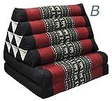 Tungyashop@thai Traditional Cushion Kapok Mattress (Red-black, 2 Fold)