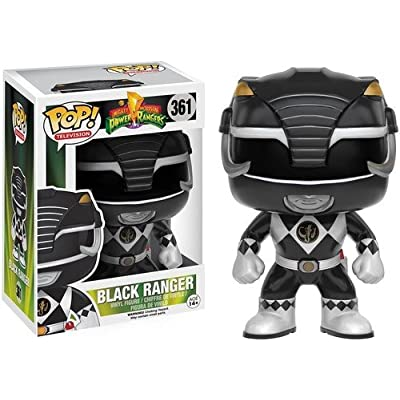 Funko POP TV: Power Rangers - Black Ranger Action Figure: Artist Not Provided: Toys & Games