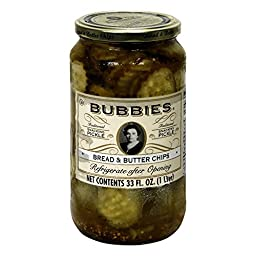 Bubbies, Pickles, Bread & Butter, 33 oz