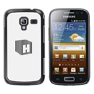 Be Good Phone Accessory // Dura Cáscara cubierta Protectora Caso Carcasa Funda de Protección para Samsung Galaxy Ace 2 I8160 Ace II X S7560M // cube H stripe