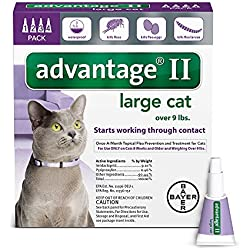 Advantage II Flea prevention Large Cats, over 9 lbs, 4 doses