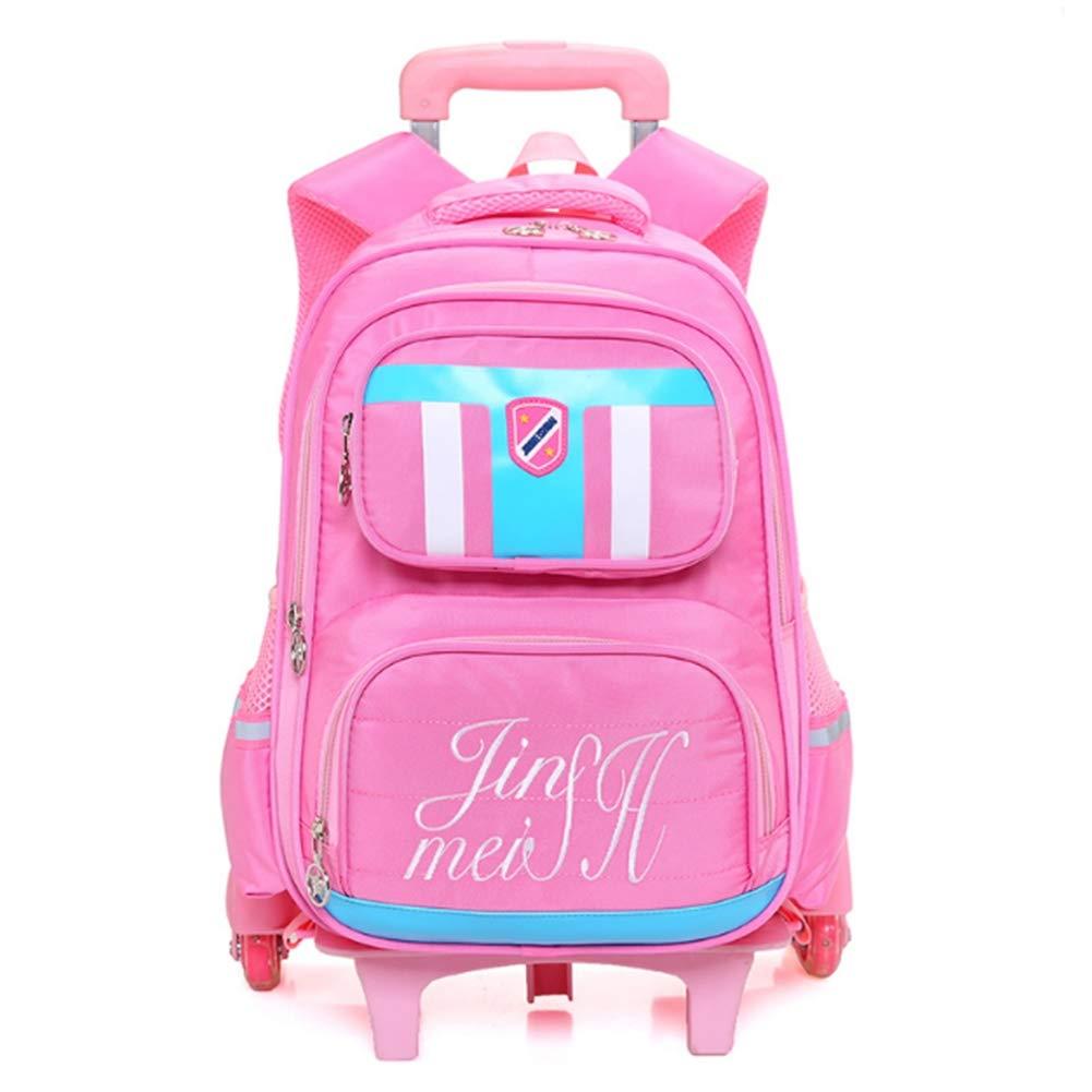 d6636a8c4c RRight Zaini Scuola Trolley Zaino Impermeabile per per per Bambini con  Carrello Regolabile 6 Ruote Studenti delle scuole elementari Che viaggiano  Bagagli,A ...