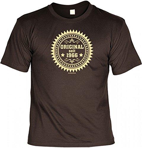 Birthday Shirt - Original seit 1966 - Lustiges T-Shirt als Geschenk zum Geburtstag - Braun