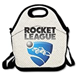Rocket Game League 2 Lunch Bag Travel Zipper Organizer Bag, Waterproof Outdoor Travel Picnic Lunch Box Bag Tote With Zipper And Adjustable Crossbody Strap