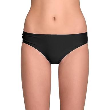 Vivisence 3209 Bikinislips Dame Bademode Musterlos Normaler Bund Setteil EU,  schwarz,36