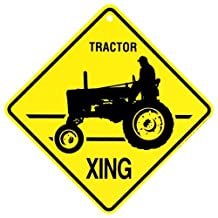 Kc Creations Tractor Xing Caution Crossing Sign Farm Animal Gi