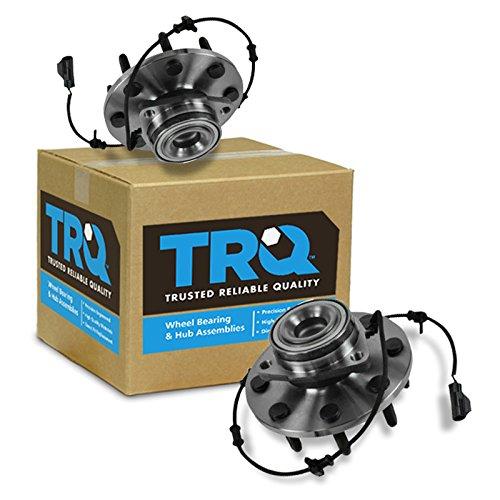 (TRQ Front Wheel Bearing Hub Assembly Pair Set for Dodge Ram Pickup 2500 3500)