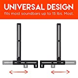 ECHOGEAR Sound Bar Mount With Tool-Free Height Adjust For Maximum Compatibility Between Your TV & Soundbar - Features Simple Install With Included Hardware - EGSB1