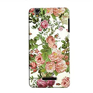 Cover It Up Flower Garden Hard Case for Micromax Yu Yureka - Multi Color