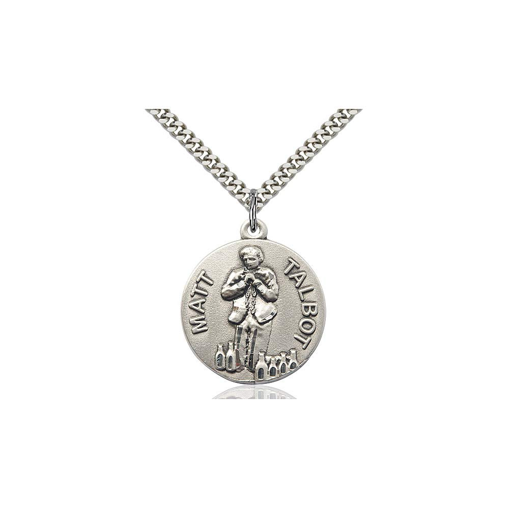 DiamondJewelryNY Sterling Silver Matt Talbot Pendant