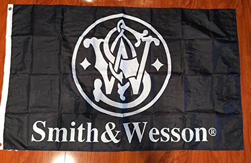 Smith & and Wesson Flag 3x5 feet NEW grommets - banner Bar Decor Man Cave (Smith Grommet)