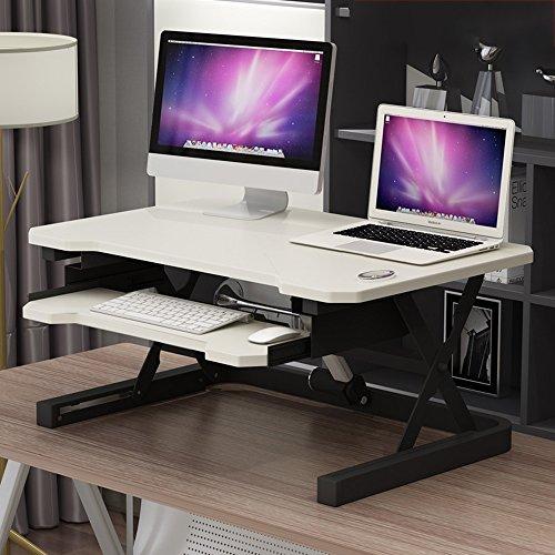 MSF Mesa plegable Inteligente electrico Levantamiento de la mesa de la computadora Sentado Estacion de trabajo de escritorio vertical Ergonomia del polipasto de la computadora, 90x60x (15.5-46) cm