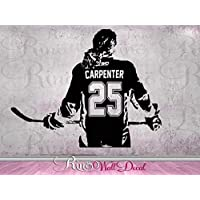 Hockey Girls Decal Wall art Custom Women - Girls ice Hockey Player choose jersey name & numbers hockey wall Decal sticker mom bedroom decor female hockey player
