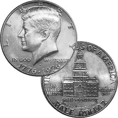 1776 Various Mint Marks - 1976 Brilliant Uncirculated Bicentennial Kennedy Half Half Dollar Uncirculated US (1972 Kennedy Half Dollar)
