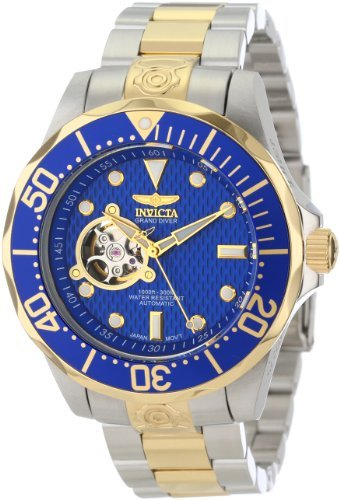 Invicta Men's 13706 Grand Diver Automatic Blue Textured Dial Two Tone Stainless Steel Watch by Invicta