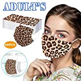50 Pack 3Ply Leopard Disposable Face_Mask for