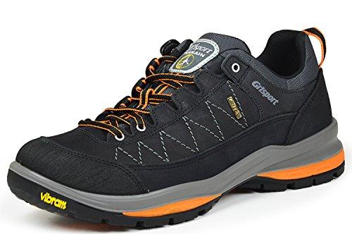 Grisport 12501N64G Herren Nero Nabuk Trekking und Freizeit Schuhe schwarz/ orange
