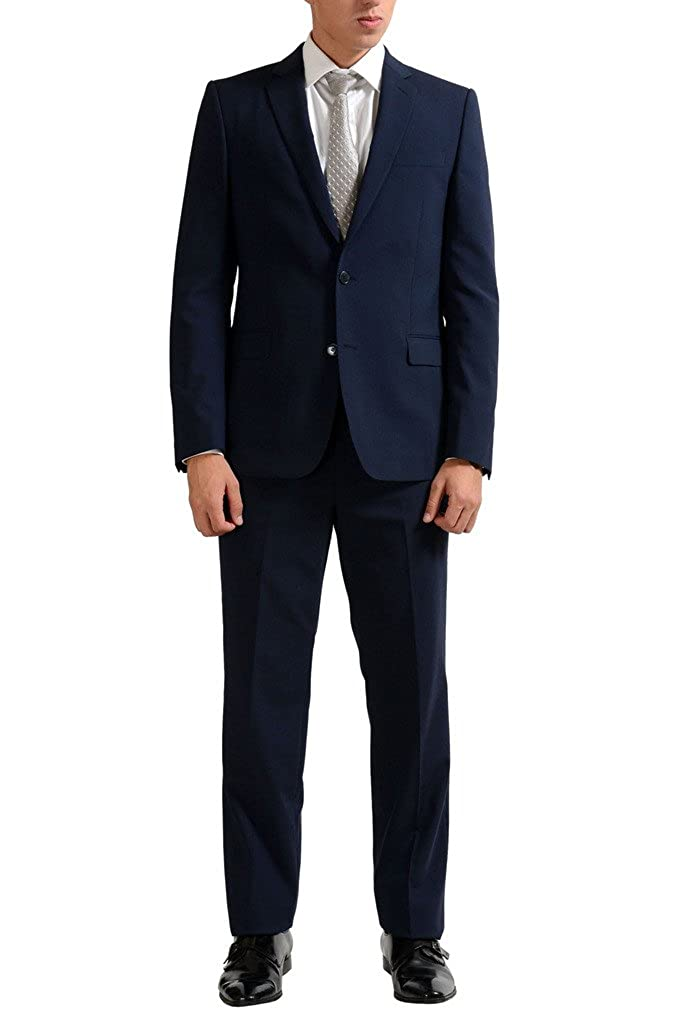 Versace Collection Wool Navy Two Button Men's Suit