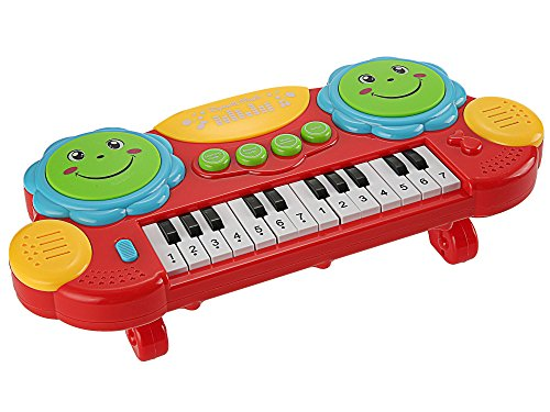 Educational Keyboard (Funmily Baby Piano Play Keyboard Drums Educational Musical Toys with Light (Red))