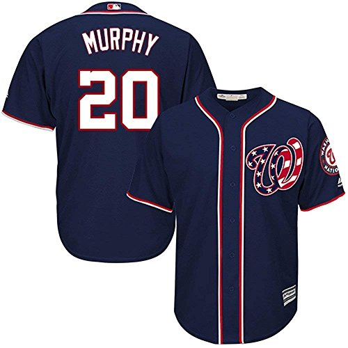 (Majestic Daniel Murphy Washington Nationals MLB Youth Navy Alternate Cool Base Replica Player Jersey (Youth Medium 10-12))