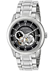 Bulova Mens 96A119 BVA Automatic Stainless Steel Watch with Link Bracelet