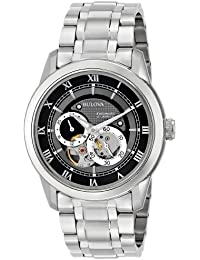 """Men's 96A119 """"BVA"""" Automatic Stainless Steel Watch with Link Bracelet"""