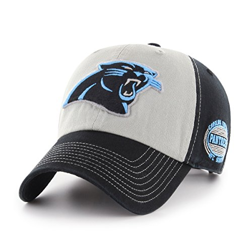 NFL Carolina Panthers Tuscon OTS Challenger Adjustable Hat, Black, One Size