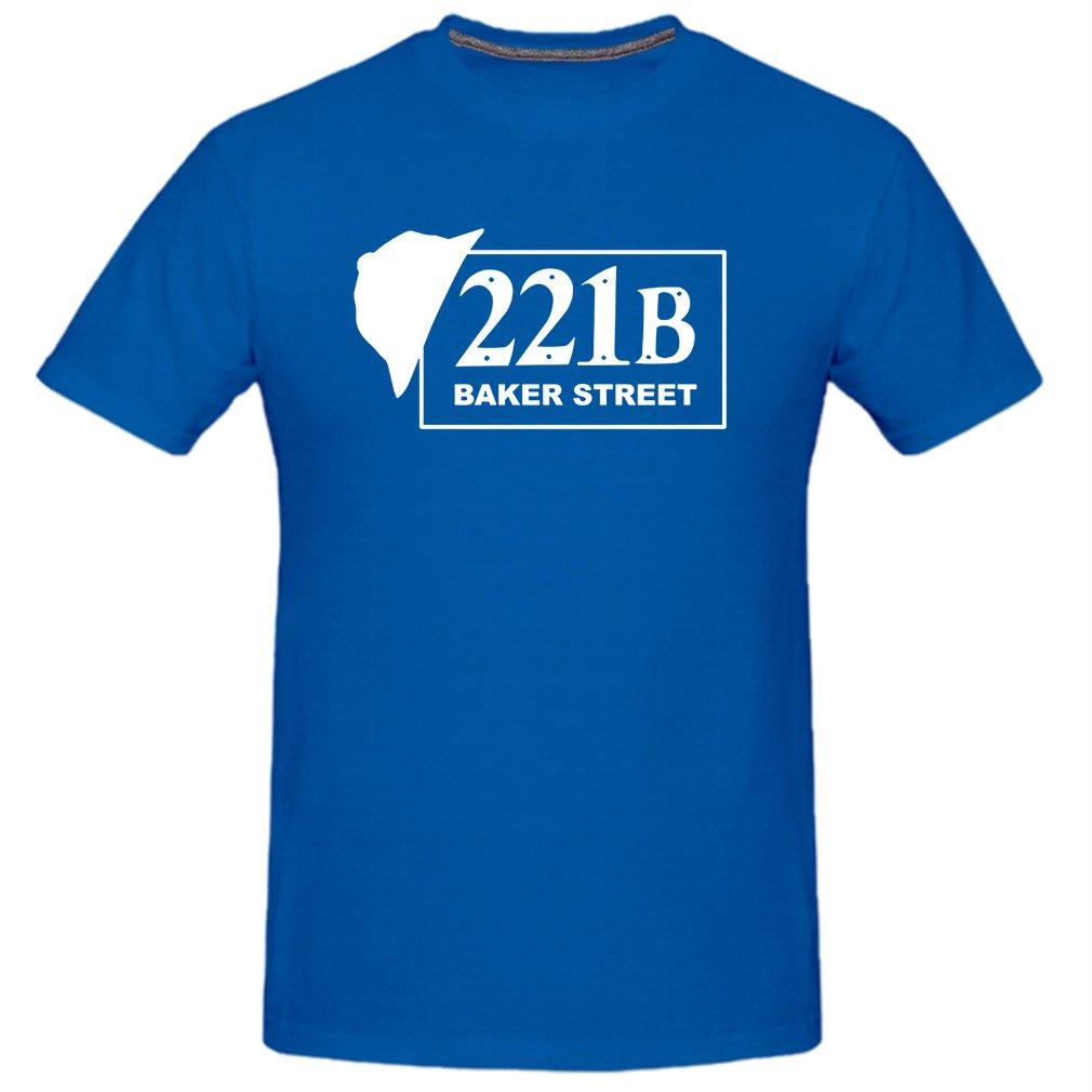 Conquershop Men's 221B Baker Street Funny T-Shirt