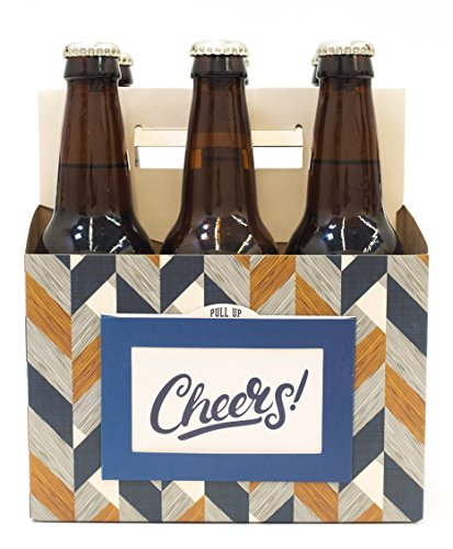 nod products Cheers! Craft Beer Carrier with Attached Bottle Opener and Gift Tag in Pocket (Best Bachelor Pad Accessories)