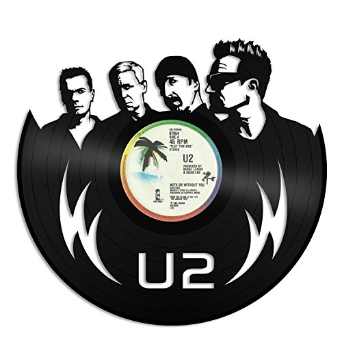 VinylShopUS - U2 Vinyl Wall Art Record Irish Alternative Musicians Rock Band | Decorative Unique Gift for Music Lover | Decoration Music Room ()