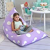 Butterfly Craze Stuffed Animal Storage Bean Bag Chair - Stuff 'n Sit Toy Bag Floor Lounger for Kids, Teens and Adult  Extra Large 200L/52 Gal Capacity  Premium Cotton Canvas (Purple)