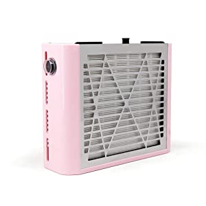 Nail Dust Collector Machine, Upgraded Powerful Nail Vacuum Dust Extractor Suction Fan for Acrylic Dip Nail Poly Nail Extension Gel Removal, Pink