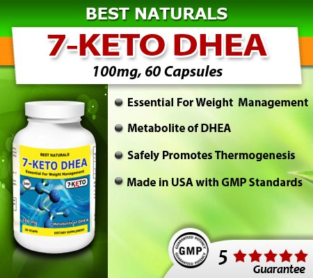 Meilleures Naturals, 7-Keto DHEA, Fat Loss Formula, 100 mg, 60 Vcaps