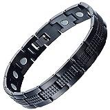 Best Jewelry Everyday Gifts For Boyfriends - Modern Sleek Black Stainless Steel Magnetic Bracelet Review