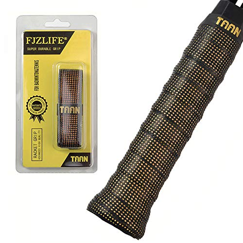 - FJZLIFE Tennis Racket Grip in The TAAN Series-Classic -Perforated Super Absorbent-Ultra Cushion Replacement Tennis Overgrip for Badminton,Squash, Baseball, Table Tennis,Bike and More