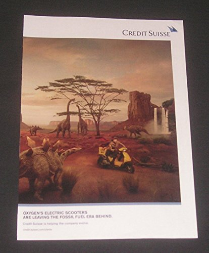 2011 Print Ad Credit Suisse Financial Services  Prehistoric Era Of Dinosaurs  Leave Fossil Fuels Behind  Original Magazine Advertisement   Collectible Paper Ephemera