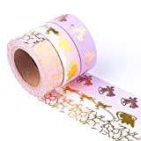 Office Products : DECORA Decorative Masking Washi Tape for Art Crafts Scrapbooking Gift Wrapping. (Set of 3 Rolls)