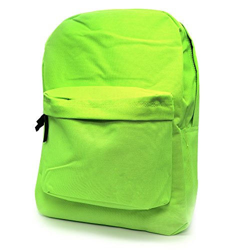 Emraw Multipurpose Schoolbag Travel Backpack For Girls Casual Security Backpack Women Rucksack with Trim Adjustable Straps Fashion Backpack Office School Laptop Bag, Lime Green Classic