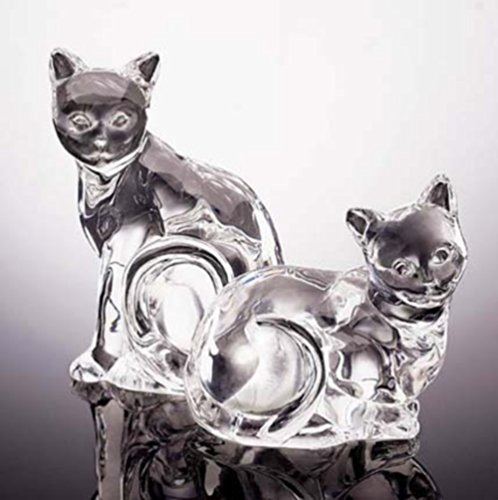 A Dash of Elegance Crystal Cat Salt & Pepper Set from (Lenox Elegance Crystal)