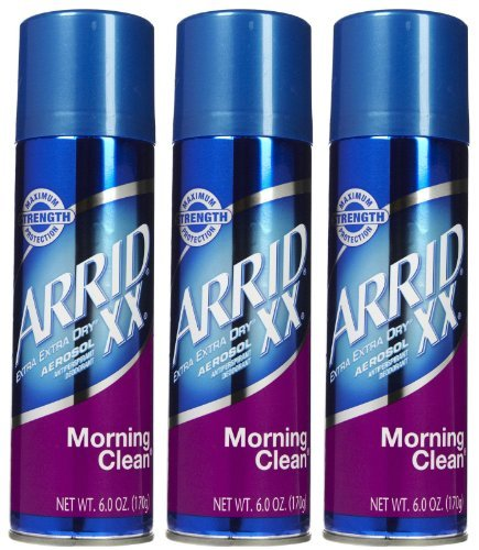Arrid XX Aerosol Spray Antiperspirant & Deodorant, Morning Clean - 6 oz - 3 pk